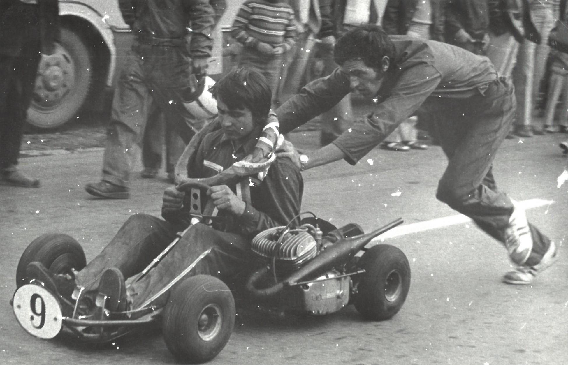 1973 Přebor ČSR Prachatice roztlačuje starší bratr Josef