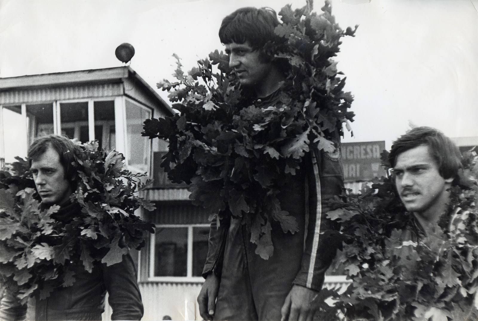 Pohár míru a přátelství Riga 1980, zprava Jiří Sedlář, Milan Šimák a Rus Rjabčikov